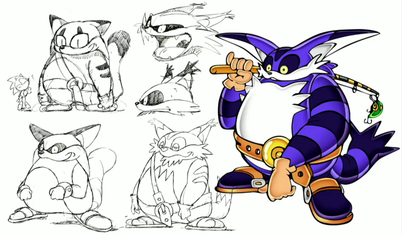never before seen concept art of sonic characters shown sonic retro